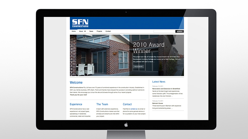 SFN Constructions Website