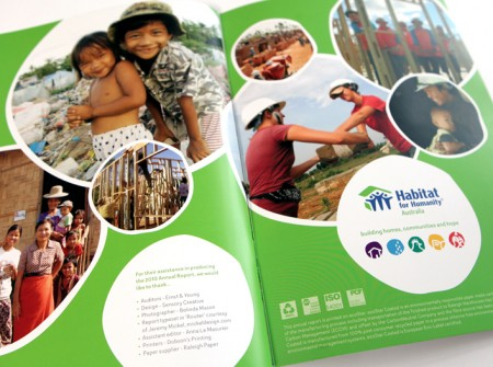Habitat for Humanity Australia annual report spread