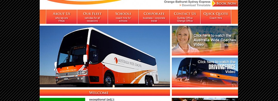 Australia Wide Coaches website