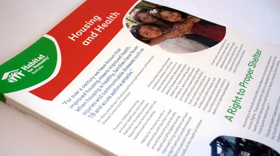 Habitat for Humanity Australia brochures
