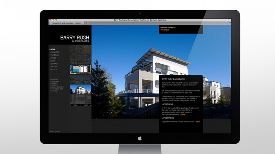 Barry Rush Associates Website home page