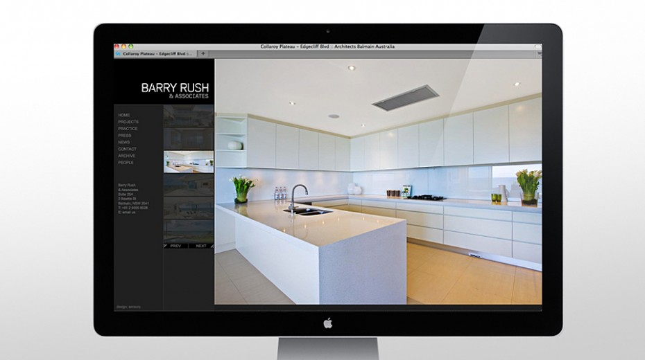 Barry Rush Associates Website project image