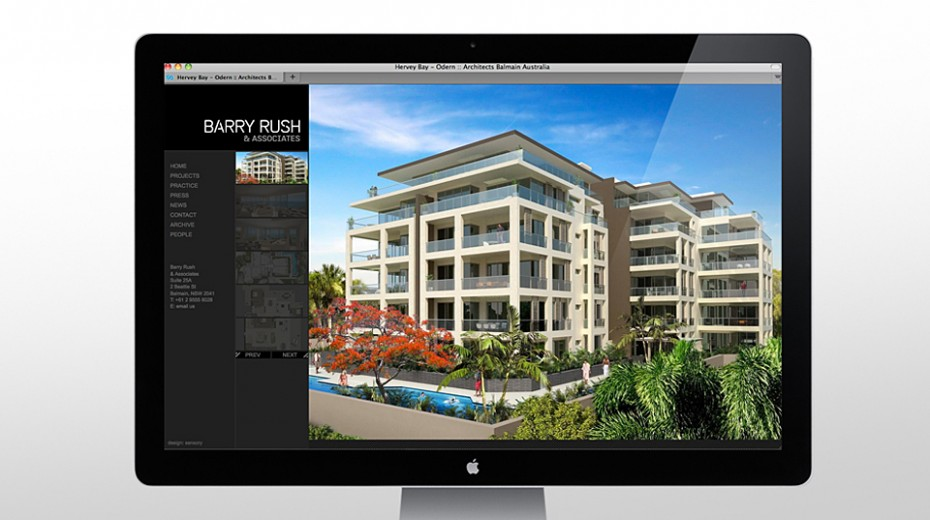 Project image Barry Rush Associates Website