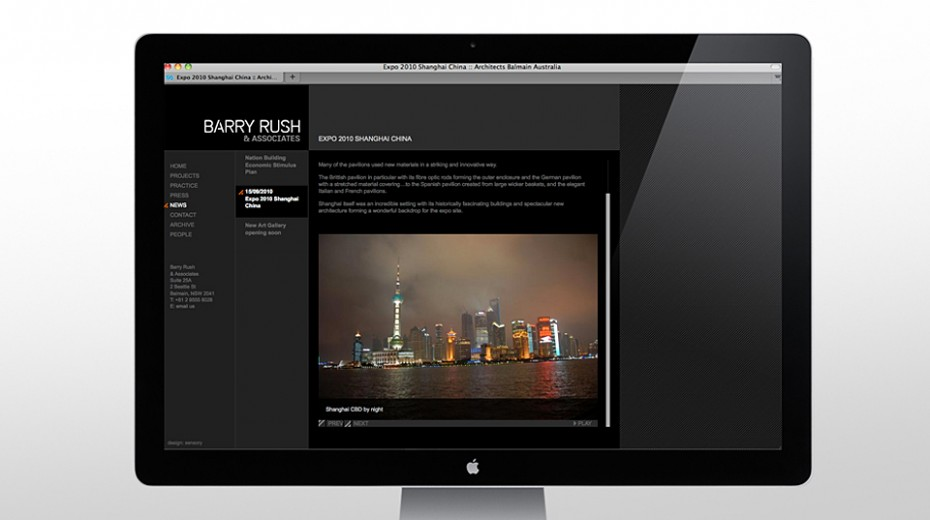 Barry Rush Website news page