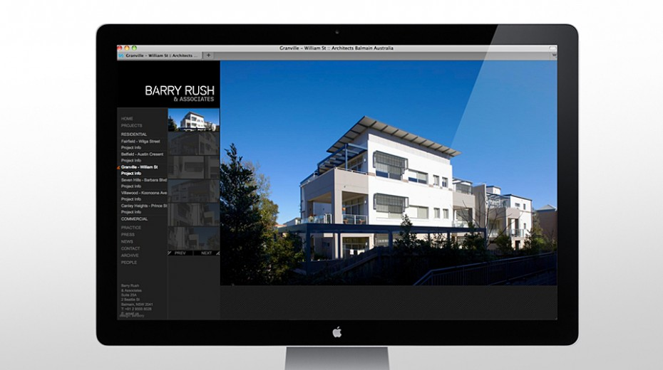 Barry Rush Website project image