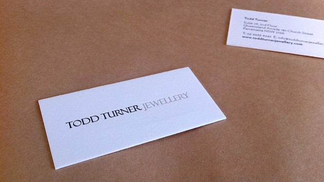 Todd Turner Jewellery Business Cards