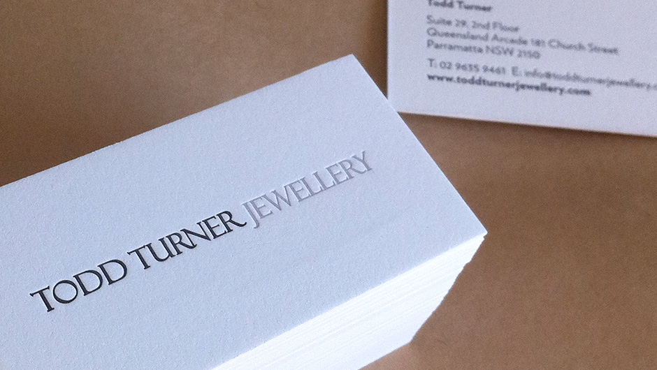 Deep space business cards letterpress printing todd turner jewellery business cards letterpress business cards reheart