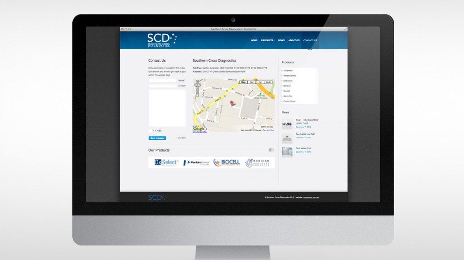 Southern Cross Diagnostics Contact Page