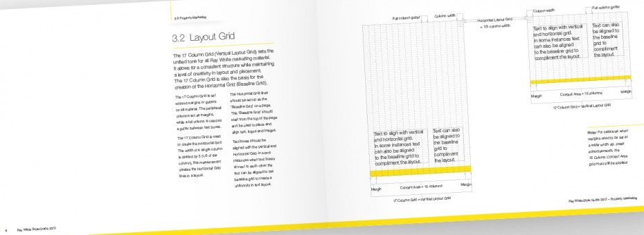 Ray White Visual Identity Guidelines - Layout Grid