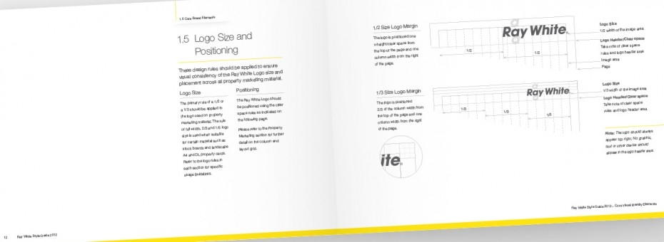 Ray White Visual Identity Guidelines - Logo Size and Positioning