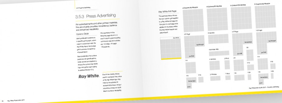 Ray White Visual Identity Guidelines - Press Advertising