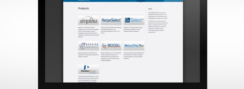 Southern Cross Diagnostics Products Page