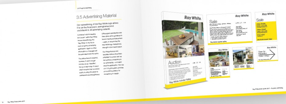 Ray White Visual Identity Guidelines - Advertising Material