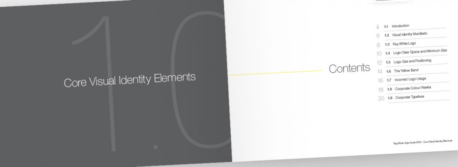 Ray White Visual Identity Guidelines - Contents