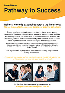 Old Raine&Horne Recruitment Ad