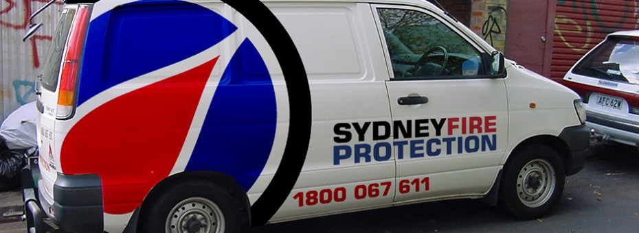 Sydney Fire Protection vehicle signage mock-up/visual designed back in 2000.